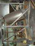 Drum mixer 1,000-litre stainless steel.