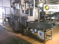 MAD0010911- Whole frying line for pellet, with whole packing line.