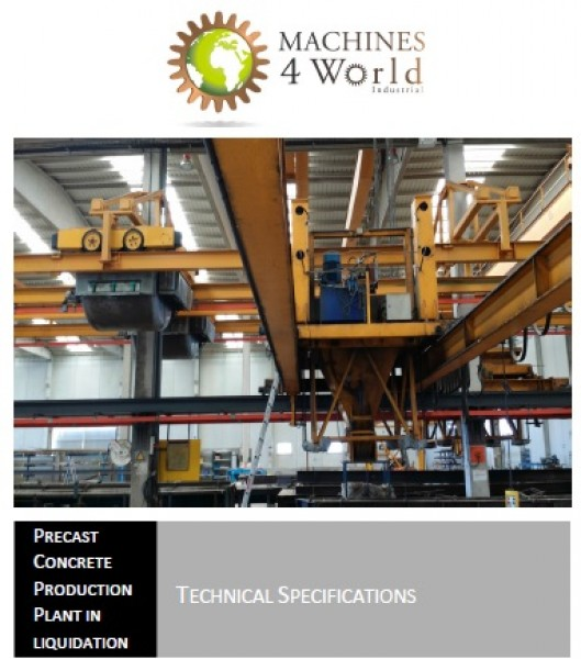 Planta de Prefabricados de Hormigón SKAKO en liquidación