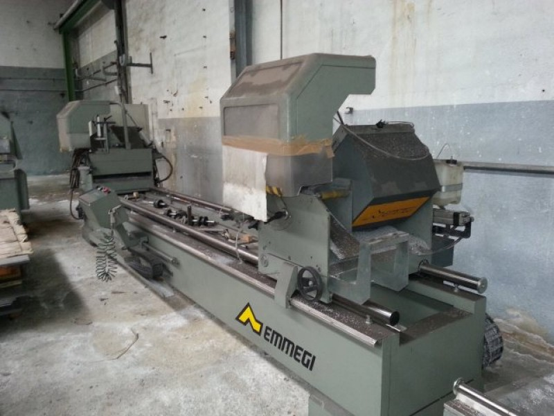 Double head cutting machine for aluminum for aluminum Emmegi START MAGIC 450 TU/4