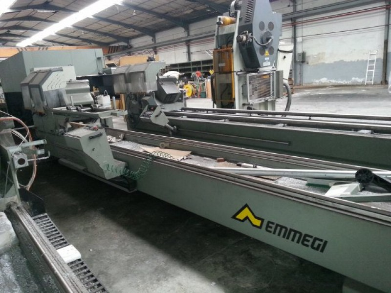 Double head cutting machine for aluminum Emmegi START LUNA 450 TU/5